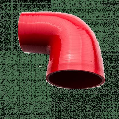 curva 90 gradi in silicone rosso