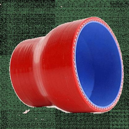 riduzione in silicone dritta rossa con imbocchi di diametro diverso
