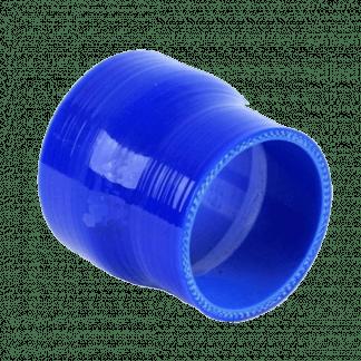 riduzione in silicone dritta blu con imbocchi di diametro diverso